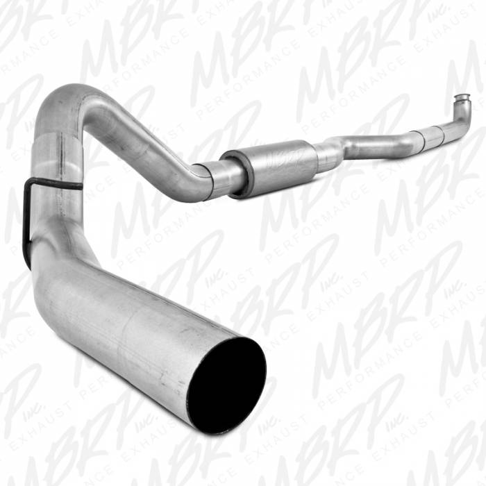 "MBRP Exhaust - MBRP Exhaust 2001-2007 Duramax 4"" Down Pipe Back, Single Side, Off-Road (includes front pipe) S6004P"