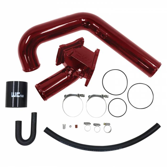 Wehrli Custom Fab - 2006-2010 LBZ/LMM Duramax Y-Bridge Kit WCFab Red Two Stage Powder Coating WCFab