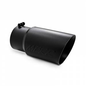 "Exhaust - Exhaust Tips - MBRP Exhaust - MBRP Exhaust Tip, 6"" O.D. Dual Wall Angled  5"" inlet  12"" length - Black Coated T5074BLK"