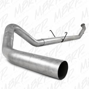 "MBRP Exhaust - MBRP Exhaust 4"" Turbo Back, Single Side - no muffler S6126PLM 2004.5-2007 Cummins"