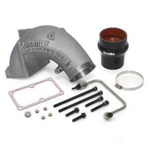 Engine Parts - Parts & Accessories - Banks Power - Banks Power 6.7 Cummins Monster-Ram Intake Elbow Kit with Fuel Line and Hump Hose, 4 inch Natural 42790