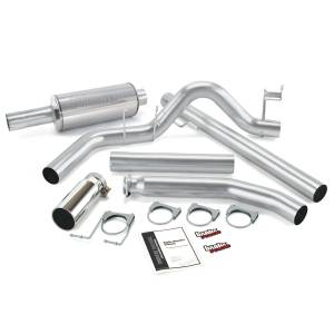 Banks Power - Banks Power 98-02 Cummins Monster Exhaust System, Single Exit, Chrome Round Tip 48636