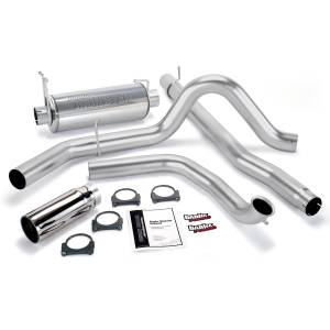 Banks Power - Banks Power 99-03 7.3L Power Stroke Monster Exhaust System, Single Exit, Chrome Round Tip 48656