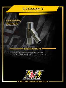 Maryland Performance Diesel - MPD 03-07 Billet Coolant Y