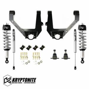 Kryptonite - KRYPTONITE STAGE 3 LEVELING KIT WITH FOX SHOCKS 1/2 TON 6 LUG 2014-2018 (KRUCA13)